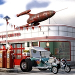 Scott Padbury - 1950's Gas Station