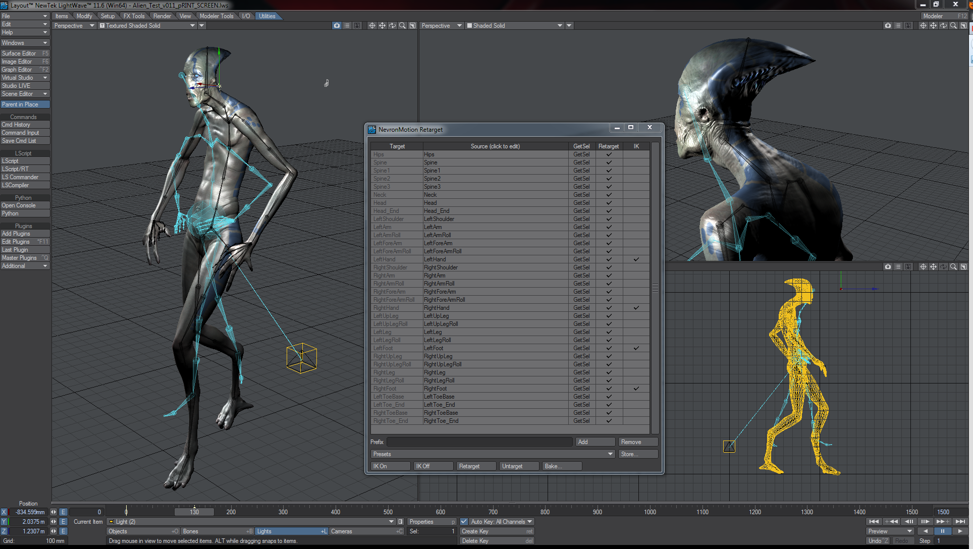 LightWave - NevronMotion Transforms Mocap in LightWave 116