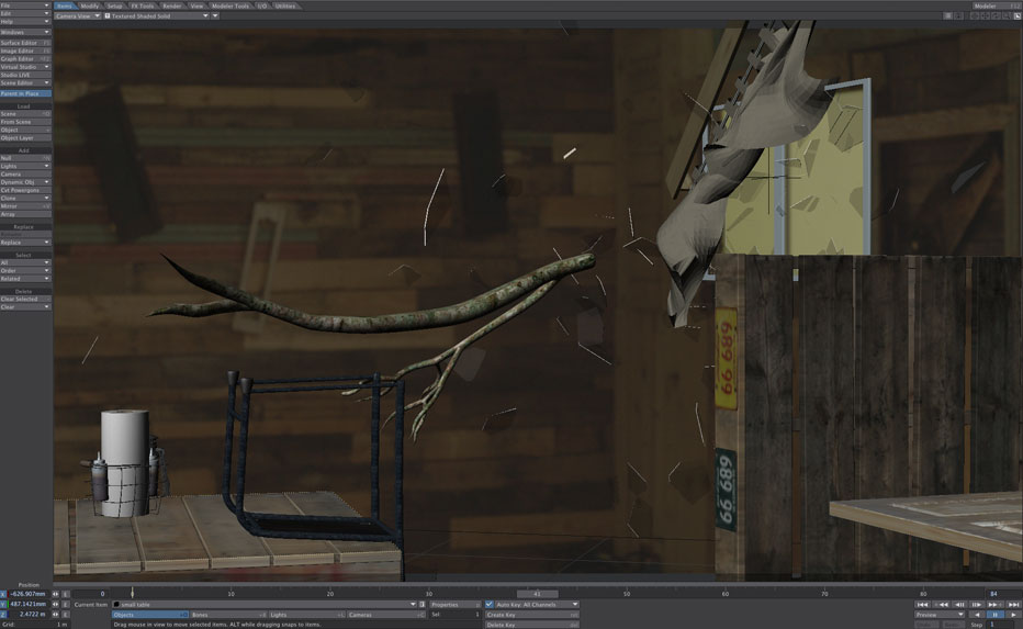 platinum platypus, lightwave 3d, visual effects, flocking, starz, behind the scenes, Category 5, vfx, 3d modeling, animation