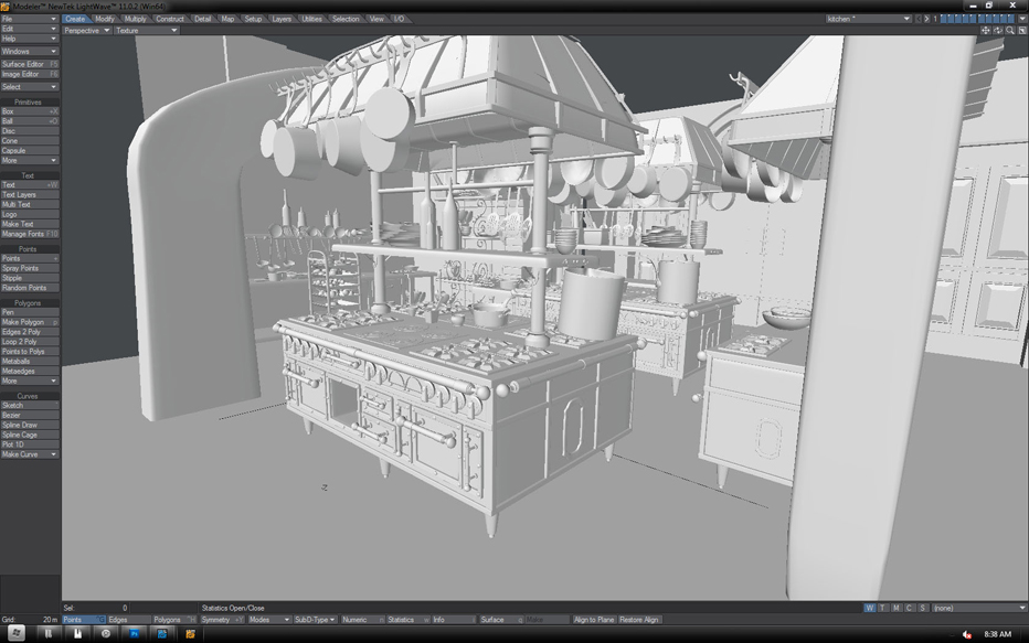 Lightwave Cooking Up Ratatouille Kitchen