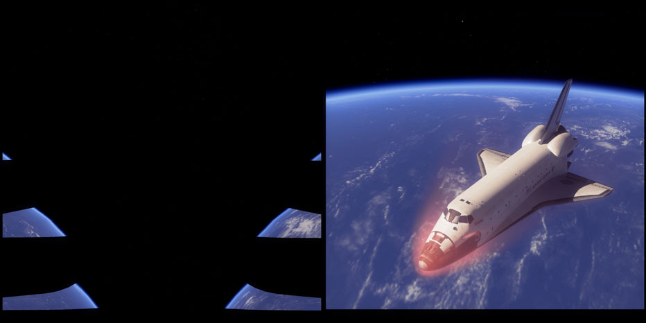 space shuttle reentry from cockpit - photo #21